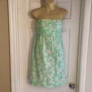 Vineyard Vines Strapless Beach Umbrella Dress